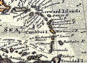 carte_ancienne_caraibes_location_voiliers